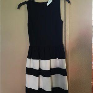 New Bar III black and white dress.